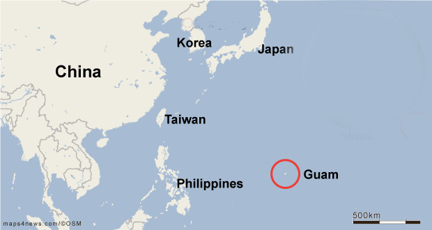 Where is Guam. Map of region.